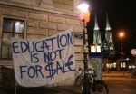 Banner at a student protest in Vienna in 2009